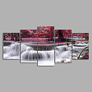 Landscape Modern,Five Panels Canvas Horizontal Print Wall Decor For Home Decoration