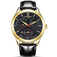 AngelaBOS Homens Relógio de Moda relógio mecânico Automático - da corda automáticamente Calendário Impermeável Mostrador Grande Couro