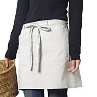 billige Forklæder-japansk stil forklæde (bomuld 67 * 116) med lommer - til restauranter og husholdning