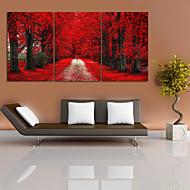 Krajina Fantazie Moderní,Tři panely Plátno Horizontální Grafika Wall Decor For Home dekorace