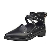 Dame Sandale Toamnă Iarnă Confortabili PU Casual Toc Plat Altele Negru Gri Burgundia Altele