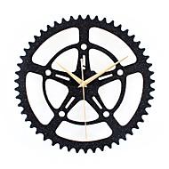 מודרני / עכשווי רטרו חופשה מעורר השראה משפחה סרט מצויר שעון קיר,עגול מצחיק אקרילי מתכת 30 בבית/ בטבע שָׁעוֹן