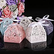 ieftine Big Heard Love®-Rotund Pătrat Cilindru Hârtie perlă Favor Holder cu Imprimare Cutii de Savoare