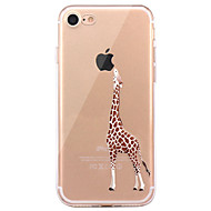 用途 iPhone X iPhone 8 iPhone 8 Plus ケース カバー 超薄型 パターン バックカバー ケース 動物 ソフト TPU のために Apple iPhone X iPhone 8 Plus iPhone 8 iPhone 7プラス iPhone 7