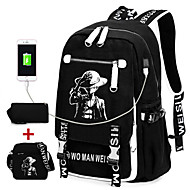 Unisex Bags All Seasons Canvas Bag Set Rivet for Casual Sports Outdoor Black
