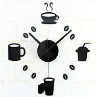 cheap Wall Clocks-DIY Fashion Creative Tableware Mute Wall Clock