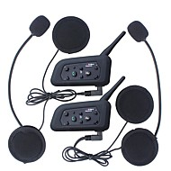 cheap Motorcycle & ATV Accessories-2Pcs 1200M Waterproof Motorcycle Helmet Interphone Bluetooth Intercom Headset V6 Intercom Intercomunicador Moto Interfones Helmet Headset