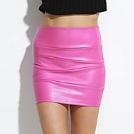 sagetech @ ženski struk opremljen kratka kožne suknje (više boja)