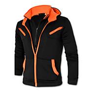 Masculino Tamanhos Grandes Jacket Hoodie Casual Simples Estampa Colorida Algodão Poliéster Manga Longa Inverno