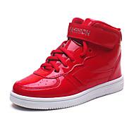 tanie Obuwie chłopięce-Dla chłopców Buty Skóra patentowa Zima Comfort Tenisówki Spacery Szurowane na Casual White Black Czerwony Niebieski