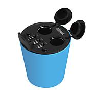 hasmine Auto-Ladegerät fünf Häfen Autoeinfaßung Adapter USB-Ladegerät