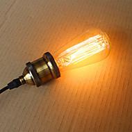 billige Glødelampe-25w st58 edison glødelamper 19 e27 silke vertikale wire retro dekorative pærer