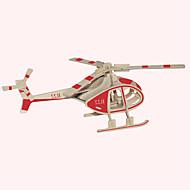 Drvene puzzle Letjelica Poznata zgrada Kineska arhitektura Helikopter Kuća Stručni Razina Drvo Božić Karneval Kamado roštilj