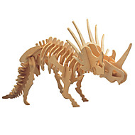 3D-puzzels Houten puzzels Triceratops Dinosaurus Dier Fossiele botten DHZ Puinen 1pcs Kinderen Jongens Geschenk