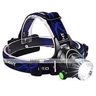 お買い得  フラッシュライト/キャンプ用ランタン-ヘッドランプ LED 1600lm 3 照明モード バッテリー&チャージャー付き ズーム可能 / 焦点調整可 / 耐衝撃性 キャンプ / ハイキング / ケイビング / 日常使用 / サイクリング