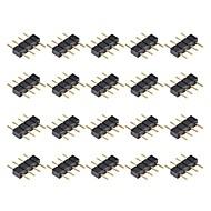 3528 5050 SMD RGB를위한 20PCS 4 핀 남성 커넥터 커넥터 스트립 조명을 주도