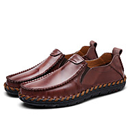 baratos Sapatos Masculinos-Homens Loafers de conforto Couro Primavera / Outono Conforto Mocassins e Slip-Ons Caminhada Vestível Preto / Castanho Claro / Vinho