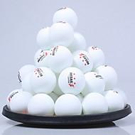 60pcs 3 hvězdičky Ping Pang/Stolní tenisový míček plast Nízký odpor větru Velká síla Vysoká pružnost Odolné