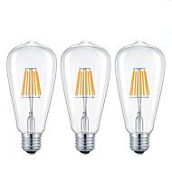 7W E26/E27 LED Filament Bulbs ST64 8 leds COB Dimmable Warm White Cold White 720lm 2200/6500K AC 220-240 AC 110-130V