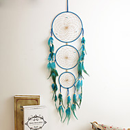 cheap Decorative Objects-1PC Dream Catcher Decor Hanging With Feathers Hanging Decoration Dreamcatcher Net India Style Hourse Decoration
