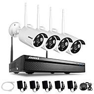 halpa -Annke® 4ch cctv -järjestelmä langaton 960p nvr 4kpl 1.3mp ir outdoor p2p wifi ip -valvontasetti