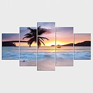 Landscape Leisure Style Modern,Five Panels Canvas Any Shape Print Wall Decor For Home Decoration