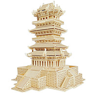 Χαμηλού Κόστους Παζλ 3D-Ξύλινα παζλ Διάσημο κτίριο Κινεζική αρχιτεκτονική Σπίτι επαγγελματικό Επίπεδο Ξύλο Χριστούγεννα Απόκριες Η Μέρα των Παιδιών Κοριτσίστικα