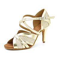 Недорогие -Для женщин Латина Джаз Сальса Обувь для свинга Дерматин Сандалии На каблуках Тренировочные Для начинающих Профессиональный стиль Для