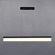 billige Bestelgere-80cm moderne stil enkelhet ledet anheng lys akryl metall spisestue studie rom / kontor lysarmatur