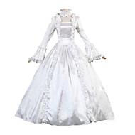 Prinsesse Cosplay Kostumer / Maskerade Dame Halloween / Karneval / Maskerade Festival / Højtider Halloween Kostumer Hvid Ensfarvet Rokoko / Victoriansk / Blonde / Satin