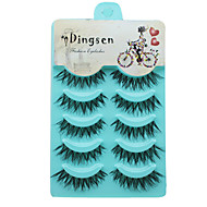 Eyelashes Full Strip Lashes Eyes Crisscross Volumized Curly Handmade Fiber Black Band