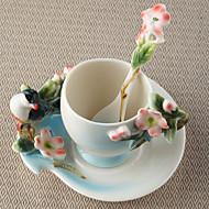 Nejnovější nápojové potřeby Hrnečky Vinné skleničky Lahve na vodu Kávové šálky Čaj a nápoje 1 PC Keramika, -  Vysoká kvalita