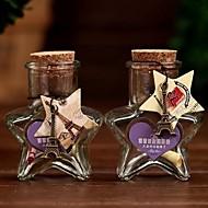 5つ星のボトルサンプル瓶コルク栓のメッセージは結婚式のフラッシュ願いボトルの子供たちの子供の贈り物をバイアルに