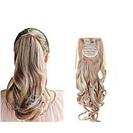Ondulado Coletas Pedazo de cabello La extensión del pelo 22 pulgadas # 33 #27/613 12/613 18/613 8/613