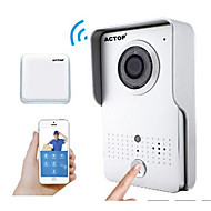 billige Dørtelefonssystem med video-actop smart hjem sikkerhet wifi video doorbell intercom alarm funksjon suppot iOS og Andriod wifi602