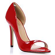 Žene Cipele PU Ljeto Udobne cipele Sandale Stiletto potpetica Otvoreno toe za Kauzalni Ured i karijera Formalne prilike Tamno plava