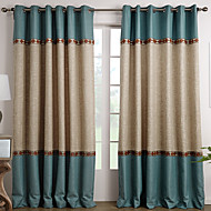 To paneler Window Treatment Middelhavet , Solid Stue Polyester Materiale gardiner gardiner Hjem Dekor For Vindu