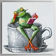 お買い得  -ハング塗装油絵 手描きの - 動物 近代の キャンバス
