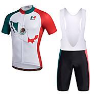 Miloto Camisa com Bermuda Bretelle Homens Manga Curta Moto Calções Bibes Shorts Camisa Pulôver Camisa/Roupas Para Esporte Tights Bib