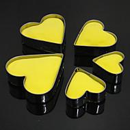 billige Kjeksverktøy-Bakeform Hjerte For Kake For Småkaker For Terte Rustfritt stål Gør Det Selv Høy kvalitet