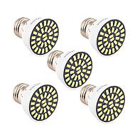 billige Spotlys med LED-5pcs 5W 500-600lm E26 / E27 LED-spotpærer T 32 LED perler SMD 5733 Dekorativ Varm hvit Kjølig hvit 85-265V