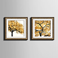 E-HOME® Framed Canvas Art Yellow Leaves of The Tree Framed Canvas Print One Pcs