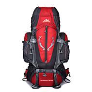 תיקי גב תיק מטיילים 85L - עמיד למים לביש רב תכליתי חיצוני מחנאות וטיולים סקי דיג ניילון אודם כחול כהה אדום