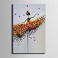 preiswerte -Handgemalte Menschen Vertikal, Europäischer Stil Modern Segeltuch Hang-Ölgemälde Haus Dekoration Ein Panel