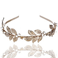 Sticky Pearl Tree Leaves Head Hoop Hair Band Baroque Gold Bride Headdress Hair Ornaments Explosion Section 1pcs
