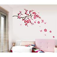Romance Moda Floral Adesivos de Parede Autocolantes de Aviões para Parede Autocolantes de Parede Decorativos, Papel Decoração para casa