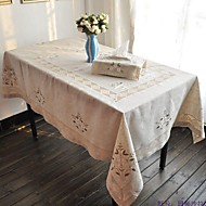 Embroidered Tablecloth Classical Linen Tablecloth Vintage Vase Table Cover 135x175cm For sale