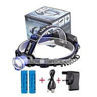 halpa -U'King Otsalamput Ajovalo LED 2000 lm 3 Tila LED Akuilla ja laturilla Zoomable Hälytys Säädettävä fokus Kompakti koko Helppo kantaa High