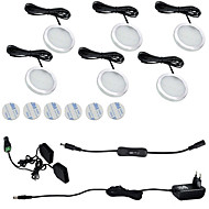 ONDENN 1800 lm 12 LED-kralen Waterbestendig Gemakkelijk te installeren Decoratief Kastverlichting Warm wit Koel wit 85-265 V Thuis / kantoor Kinderkamer Keuken / 6 stuks / RoHs / CE / UL-certificaat