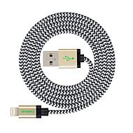 voordelige -mfi 3m (10ft) gevlochten bliksem kabel usb synchroniseren en opladen voor de Apple iPhone 7 6s 6 plus se 5s 5c 5 plus / ipad lucht / ipad mini